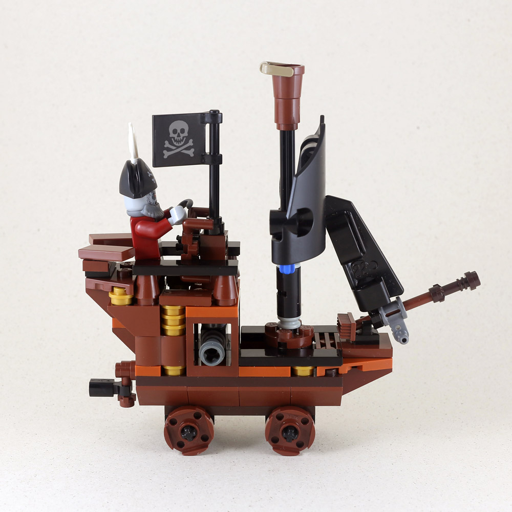 A Cute Zombie Pirate Ship, Lego MOC Side View