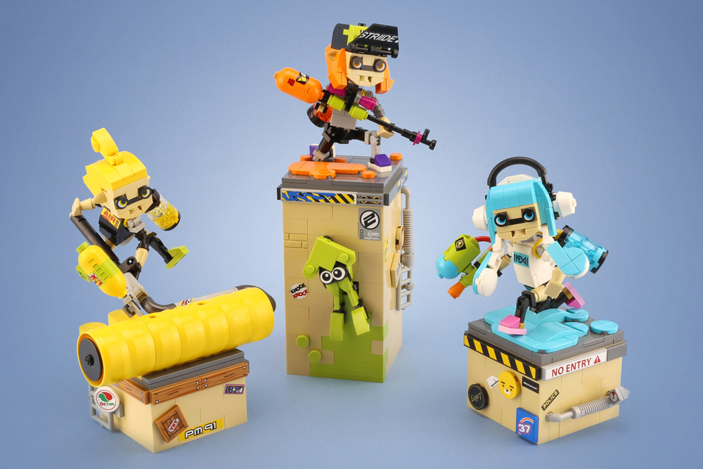 Splatoon Inklings Lego Figures