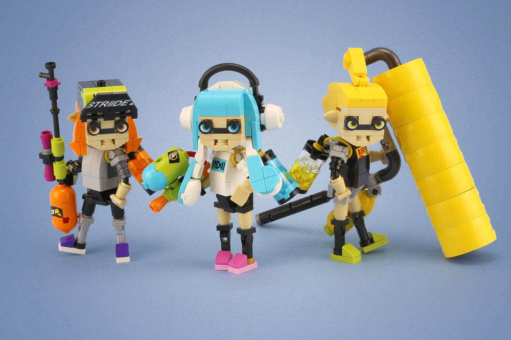 Go Ink With These Splatoon Lego Figures, Lego MOC