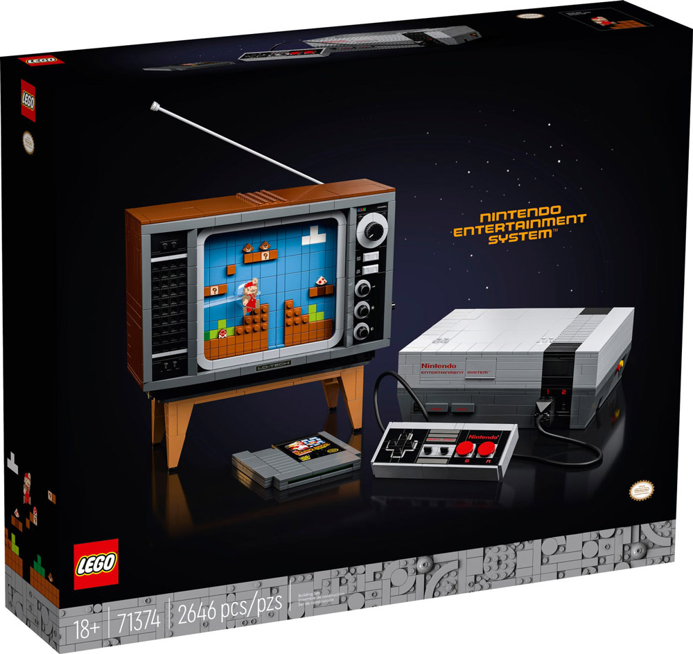 The Lego NES - Nintendo Entertainment System (71374) Announced - Box
