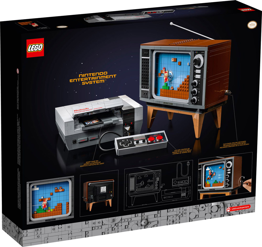 The Lego NES - Nintendo Entertainment System (71374) Announced - Box Back
