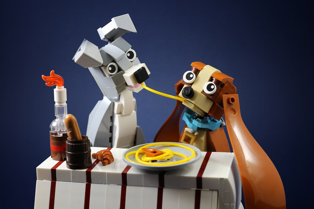 Lady And The Tramp In Lego